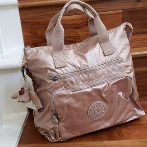 NWT Kipling Aidan Backpack Rose Gold Metallic